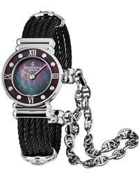 Charriol St Tropez Diamond Watch - Black