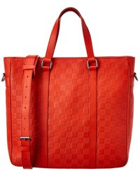 Louis Vuitton Red Damier Infini Canvas Tadao Pm