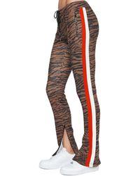 Pam & Gela Tiger Cigarette Track Pant - Natural
