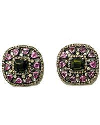 Arthur Marder Fine Jewelry Silver 15.45 Ct. Tw. Diamond & Gemstone Earrings - Metallic