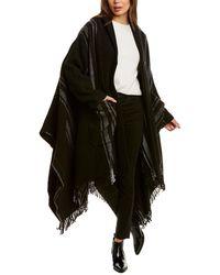 Woolrich Wool-blend Blanket Coat - Black
