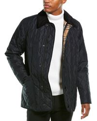 Burberry Diamond Quilted Thermoregulated Barn Jacket - Blue