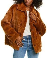 Adrienne Landau Reversible Jacket - Brown