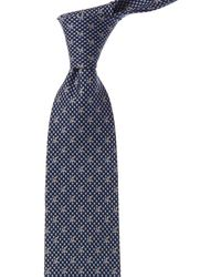 Ferragamo Squirrel & Acorn-print Silk Tie - Blue