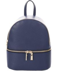 Giorgio Costa Leather Backpack - Blue