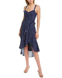 Parker Tie-waist Midi Dress - Blue