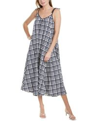Solid & Striped Puckered Maxi Dress - Blue