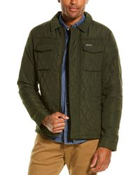 Scotch & Soda Classic Quilted Shirt Jacket - Green