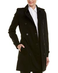 Burberry Kensington Medium-length Heritage Trench Coat - Black