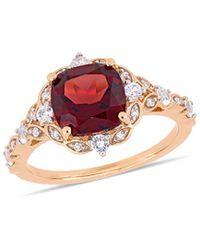 Rina Limor 14k Rose Gold 3.58 Ct. Tw. Diamond & Gemstone Ring - Multicolour