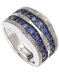 Suzy Levian - Silver 4.33 Ct. Tw. Sapphire Ring - Lyst