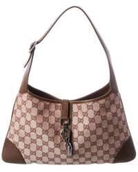Gucci Brown GG Canvas Jackie Tote