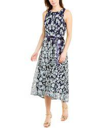 Tahari A-line Dress - Blue