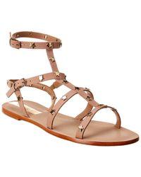 Kaanas Lapa Leather Sandal - Brown