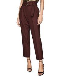 Reiss Blythe Wool-blend Trouser - Brown