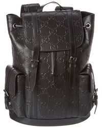 Gucci Leather Backpack - Black