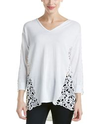 Magaschoni Lace Pullover - White