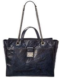 Frye Ella Leather Tote - Blue