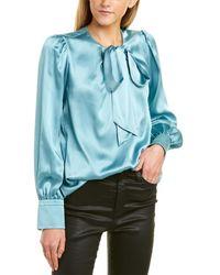 Elie Tahari Bali Silk Shirt - Blue
