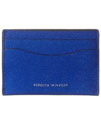 Rebecca Minkoff Leather Card Case - Blue