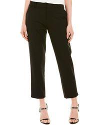 MILLY Nicole Wool-blend Pant - Black