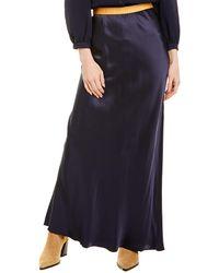 Helmut Lang Satin Skirt - Blue