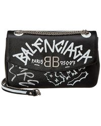 Balenciaga - Bb Graffiti Leather Shoulder Bag - Lyst