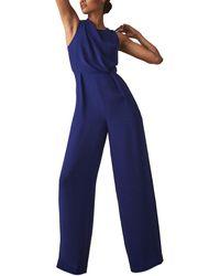 Reiss Chey Jumpsuit - Blue