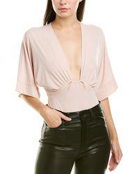 BCBGMAXAZRIA Maxazria Kimono Bodysuit - Pink