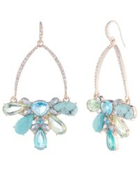 Carolee Turquoise Garden Drama Cluster Gypsy Earrings - Blue