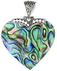 Samuel B. Silver Abalone Shell Heart Pendant - Metallic