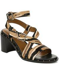 Franco Sarto Halina Leather Sandal - Brown