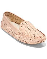 Cole Haan Evelyn Leather Driver - Pink