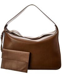 The Row New Hobo Leather Shoulder Bag - Green