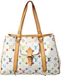 Louis Vuitton White Monogram Multicolore Canvas Aurelia Mm