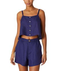 Onia Pull-on Flat Front Short - Blue