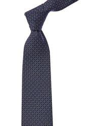 Brioni Blue Ovals Silk Tie