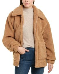 UGG Jackeline Teddy Bear Jacket - Brown