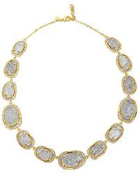 Melinda Maria - 18k Plated Grey Druzy & Cz Necklace - Lyst