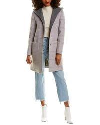 Cinzia Rocca Hooded Wool-blend Coat - Pink