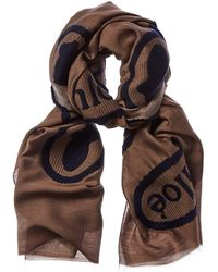 Chloé Embroidered Wool & Silk-blend Scarf - Multicolour