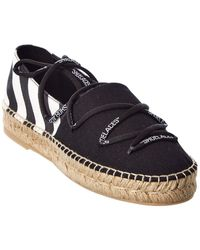 Off-White c/o Virgil Abloh Off-white? Lace-up Canvas Espadrille - Black