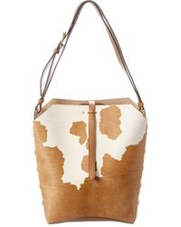 Tory Burch Rowan Calf Hair Bucket Bag - Multicolour