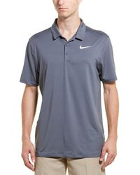 Nike Golf Dry Standard Fit Polo - Gray