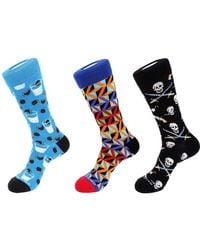 Unsimply Stitched 3pk Socks - Blue
