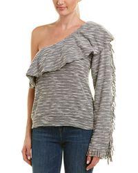 MISA Los Angles One-shoulder Top - Grey