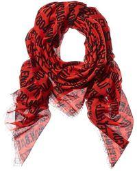 Balenciaga Silk-blend Scarf - Red