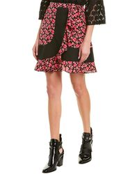 Anna Sui Wildflowers In The Wind Silk Mini Skirt - Pink