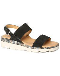 The Flexx The Mod Suede Sandal - Black
