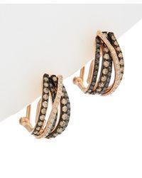Effy - Fine Jewelry 14k Rose Gold 0.93 Ct. Tw. Diamond Hoops - Lyst